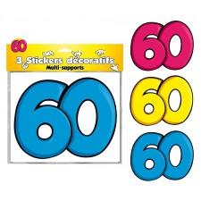 Déco stickers anniversaire 60 ans