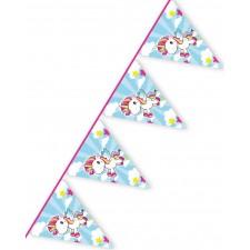 Guirlande avec fanions licorne pour anniversaire