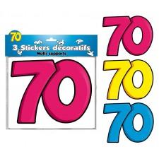 Stickers décoratifs anniversaire 70 ans
