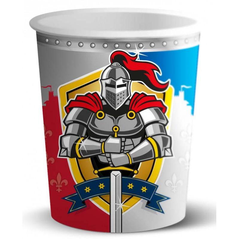 Gobelets en carton thème chevalier