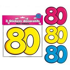 Stickers Anniversaire 80 Ans