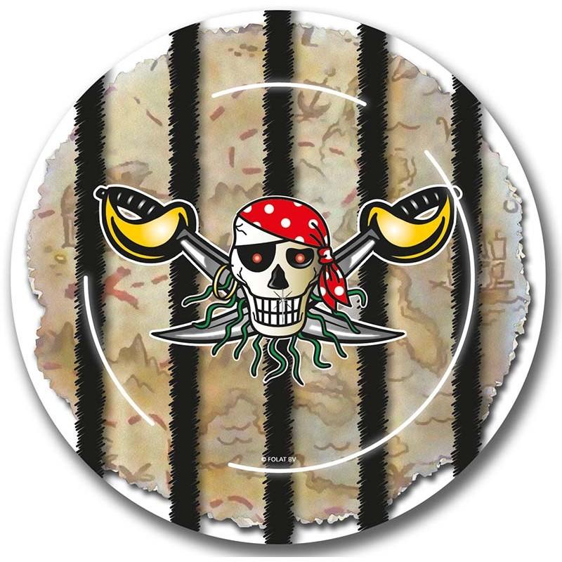 Assiettes en carton thème pirate