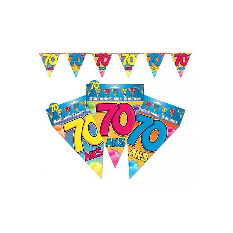 Guirlande 70 ans anniversaire