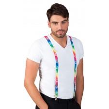 Accessoire déguisement bretelles hippie