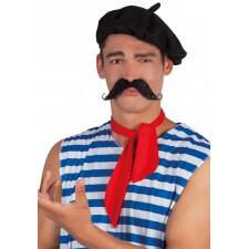 Fausse moustache adhésive français