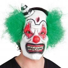 Masque de clown tueur aux cheveux verts Halloween