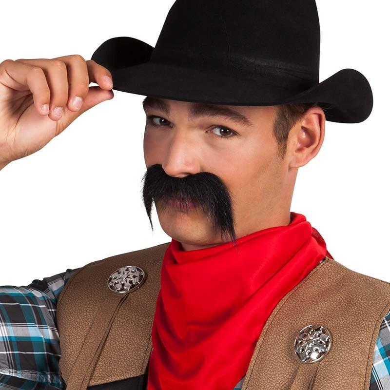 Fausse moustache adhésive de cowboy