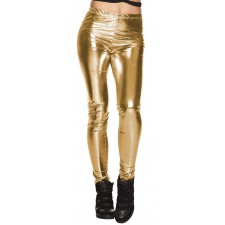 Legging disco doré
