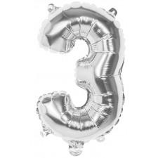 Ballons en forme de chiffre 3