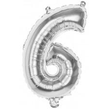 Ballon en forme de chiffre 6