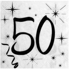 Serviettes 50 ans