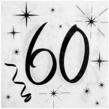 Serviettes pour anniversaire 60 ans