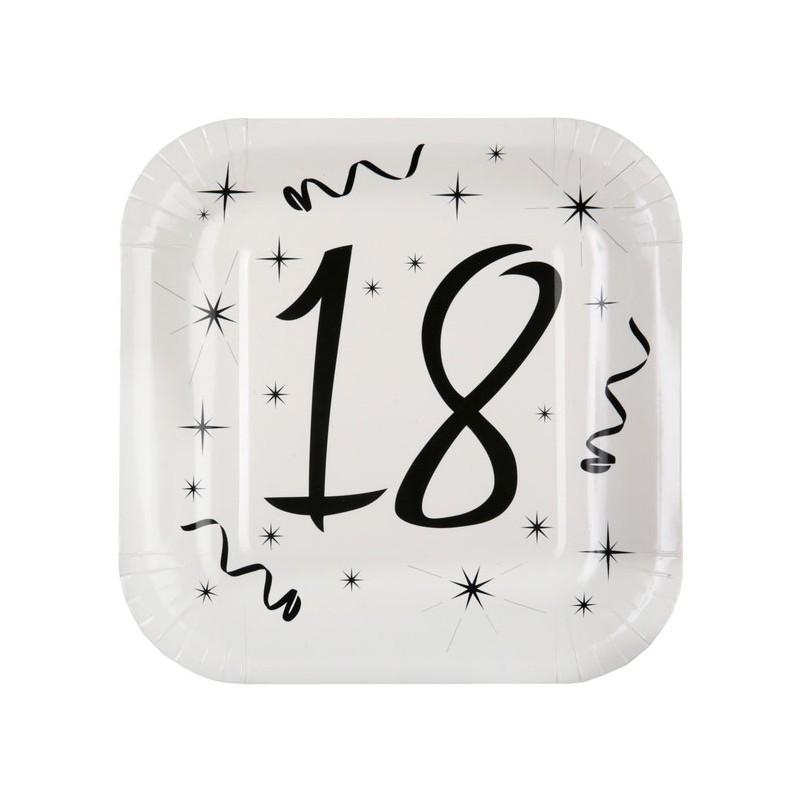 Assiettes en carton 18 ans