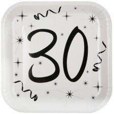 Assiettes en carton 30 ans