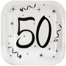 Assiette en carton pour anniversaire 50 ans