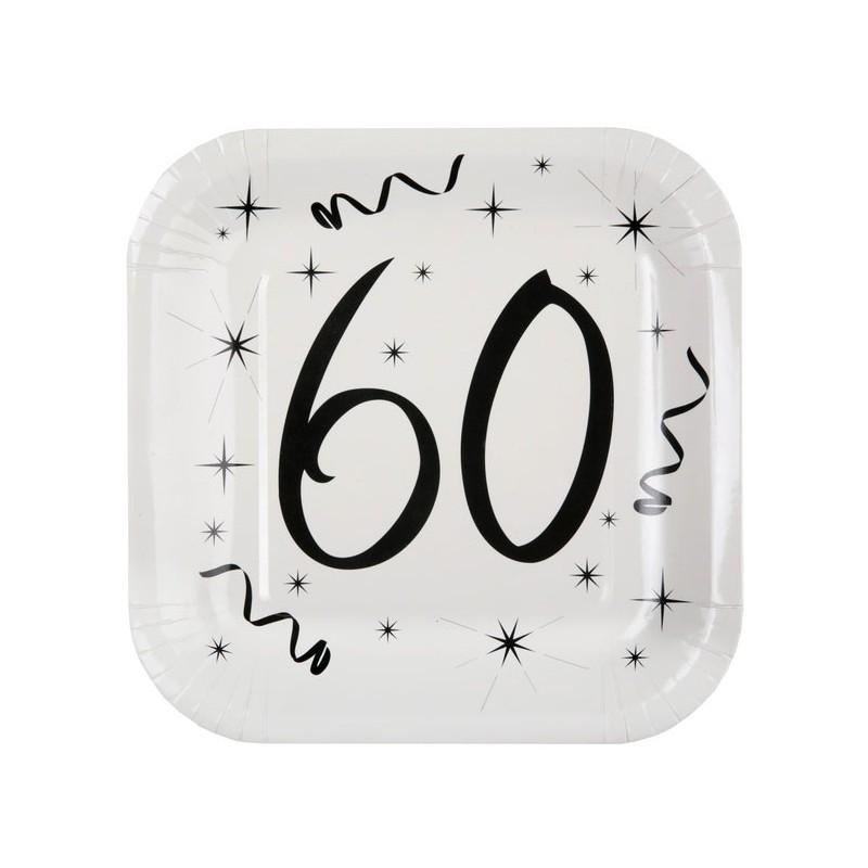 Assiettes de table en carton 60 ans