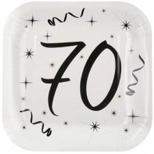 Assiettes pour anniversaire 70 ans