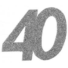 Confettis pour table d'anniversaire 40 ans