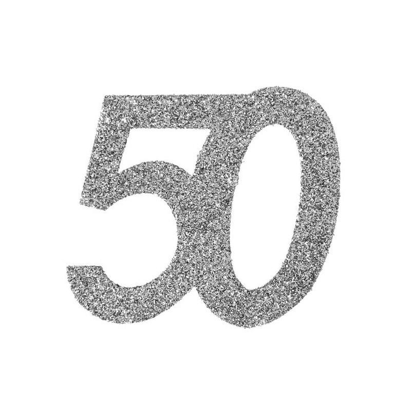 Confettis de table 50 ans pour anniversaire
