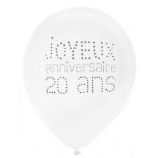 Ballons pour anniversaire 20 ans