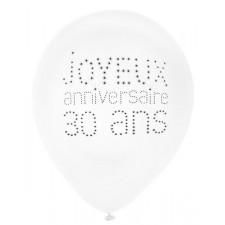 Ballons d'anniversaire en latex 30 ans