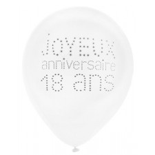 Ballons pour décoration d'anniversaire 18 ans