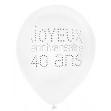 Ballon pour anniversaire 40 ans