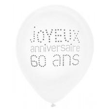 Ballons pour anniversaire  60 ans