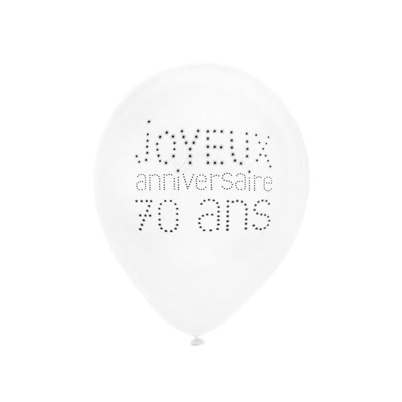 Ballons pour décoration d'anniversaire 70 ans