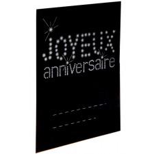 Marque-places noirs pour anniversaire