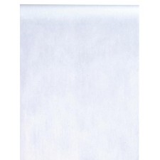 Chemin de table intissé blanc uni 10 mètres