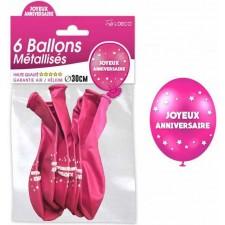 Ballons roses pour anniversaire