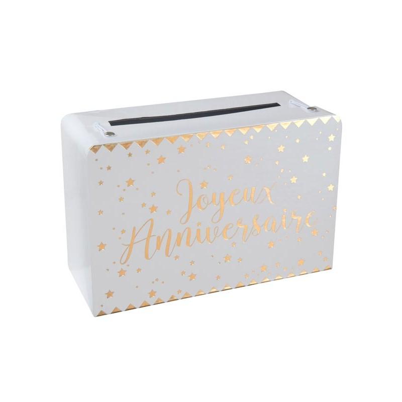 Urne anniversaire rectangulaire en carton
