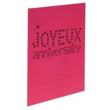 Marque-places pour anniversaire en carton roses
