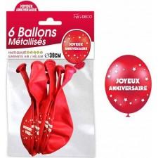 Ballons joyeux anniversaire rouges