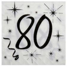 Serviettes de table 80 ans anniversaire