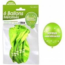 Ballons verts thème nature anniversaire