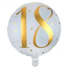 Ballon alu 18 ans gonflable à l'hélium pour anniversaire