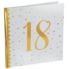 Livre d'or pour anniversaire 18 ans blanc et doré