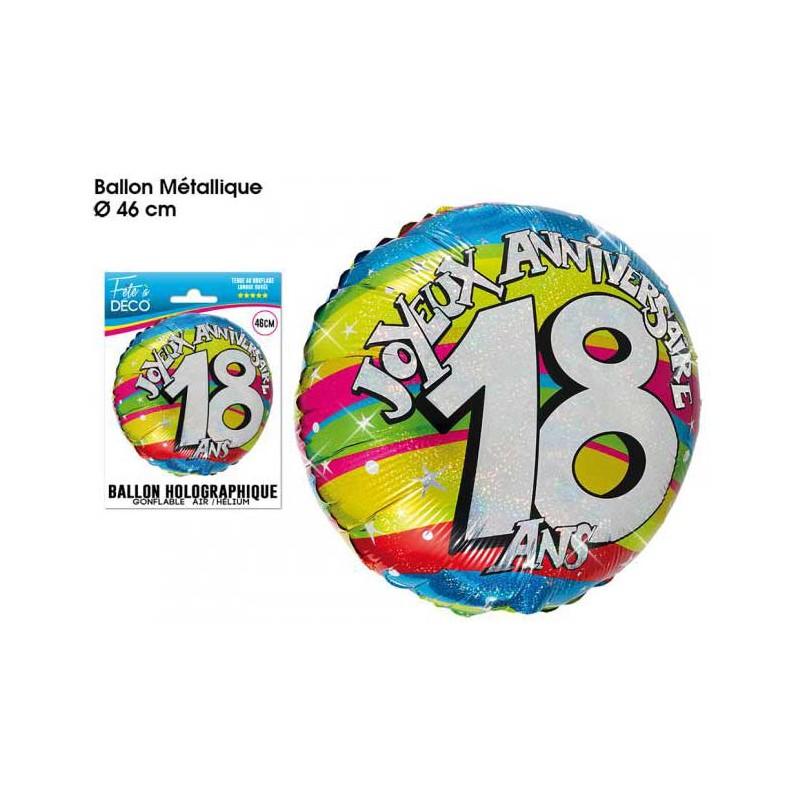 Ballons anniversaire 18 ans mylar