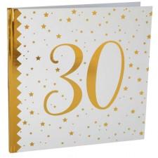 Livre d'or anniversaire 30 ans blanc et or