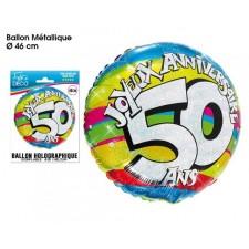 Ballon 50 ans gonflable à l'hélium
