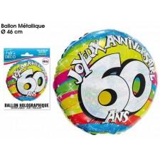 Ballon 60 ans anniversaire aluminium mylar