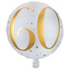 Ballon alu mylar 60 ans anniversaire
