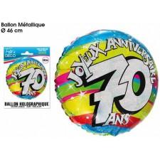 Ballon 70 ans anniversaire helium