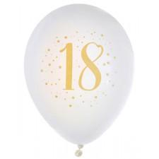 Ballons dorés pour les 18 ans spécial anniversaire