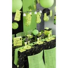 Nappe noire et verte pour anniversaire