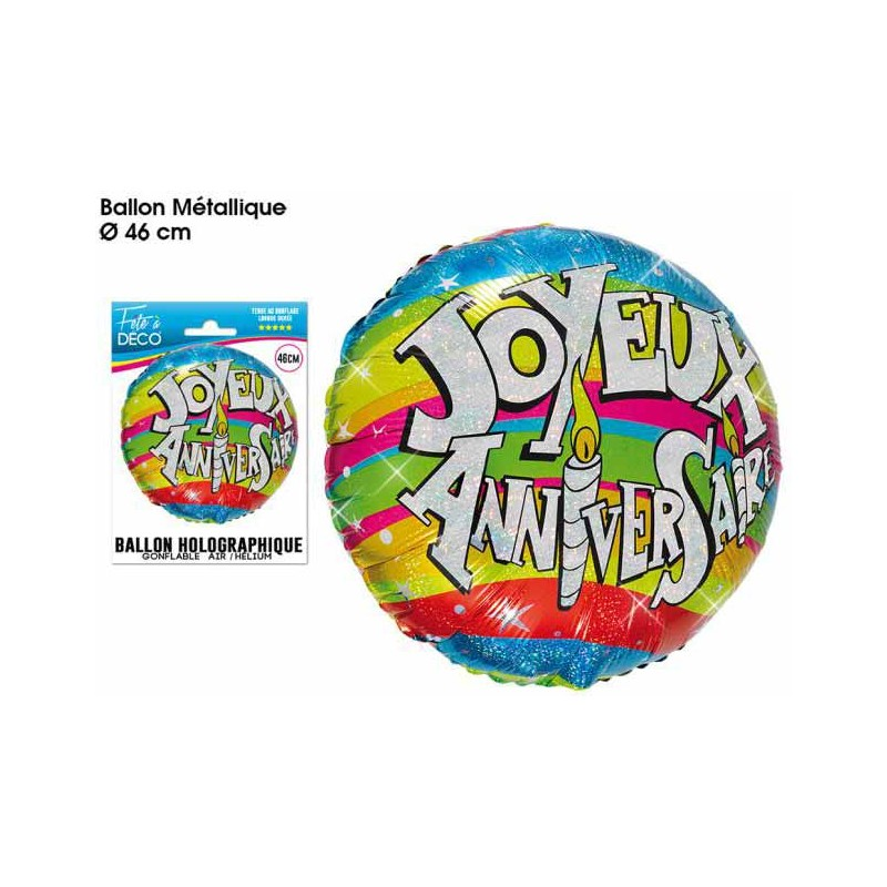 Ballon anniversaire mylar helium