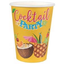 Gobelets en carton pour soirée Hawaï