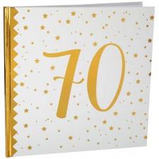 Livre d'or anniversaire 70 ans blanc et or